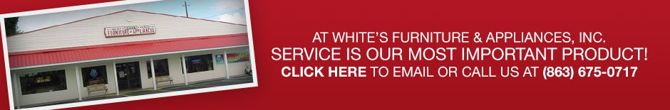 White's Furniture & Appliance banner